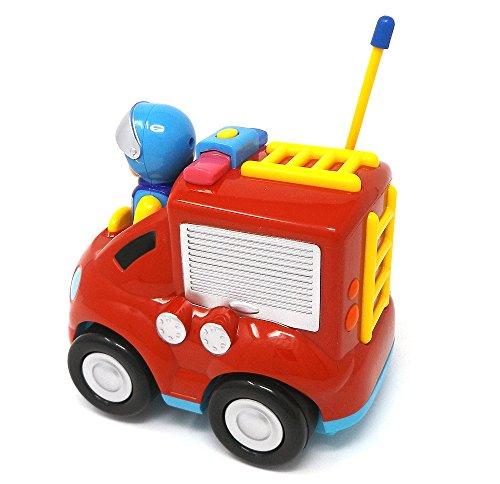 RC Feuerwehr kaufen Feuerwehr Bild 1: Brigamo Feuerwehr Ferngesteuertes Auto Feuerwehrauto mit Sirene und Herausnehmbare Feuerwehrmann Figur*