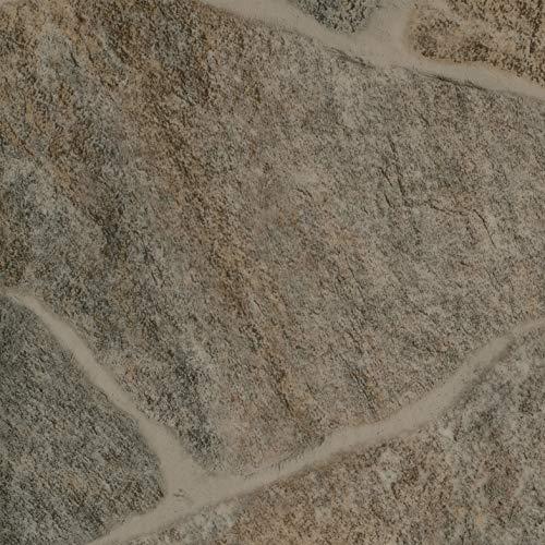 PVC Vinyl-Bodenbelag   Muster   Bruchstein Optik braun   CV PVC-Belag in verschiedenen Maßen verfügbar   CV-Boden wird in benötigter Größe als Meterware geliefert