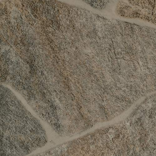 PVC Vinyl-Bodenbelag Bruchstein Optik braun | CV PVC-Belag verfügbar in der Breite 200 cm & Länge 450 cm | CV-Boden wird in benötigter Größe als Meterware geliefert | rutschhemmend