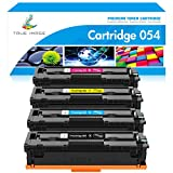 True Image Compatible Toner Cartridge Replacement for Canon 054 054H Toner Canon Color ImageCLASS MF644Cdw MF642Cdw LBP622Cdw MF641Cw Printer Toner (Black Cyan Magenta Yellow, 4-Pack)