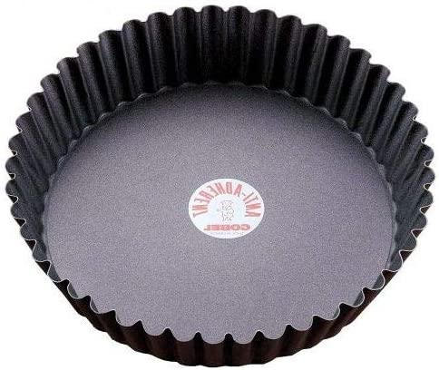 TRS-style Round fluted non-stitart quiche pan w Japan's largest Max 76% OFF assortment removable bottom