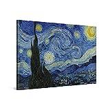 PICANOVA – Vincent Van Gogh Starry Night 60x40cm – Cuadro sobre Lienzo – Impresión En Lienzo Montado sobre Marco De Madera (2cm) – Disponible En Varios Tamaños