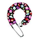 Stethoscope Covers Handmade Variety Patterns Colors 100% Cotton Scrunchie (Red Blue Pink Owl)