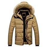 Sunward Coat for Men,Men Outdoor Warm Winter Thick Jacket Plus Fur Hooded Coat