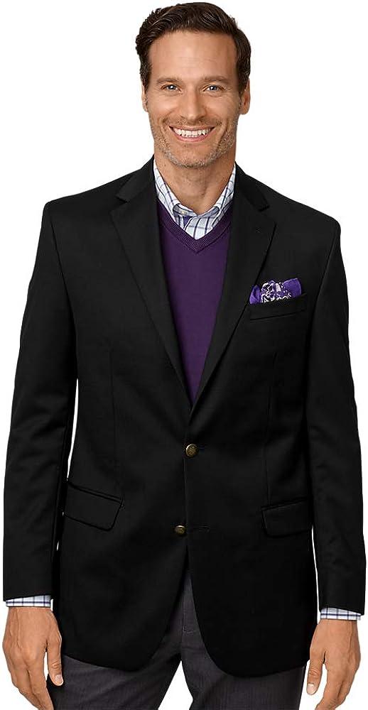 Paul Fredrick Men's Classic Fit Wool Travel Blazer Black 58 Long JA1511A
