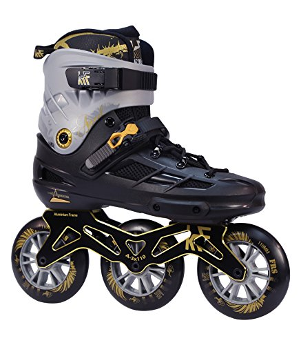 KRF The New Urban Concept Angel 3X110 Patines Enlinea de Freeskate, Infantil, Negro, 43