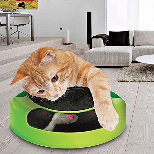 Catch The Mouse Pet Cat Mouvement Jeu avec scratch Pad en peluche Griffe de Moving TV