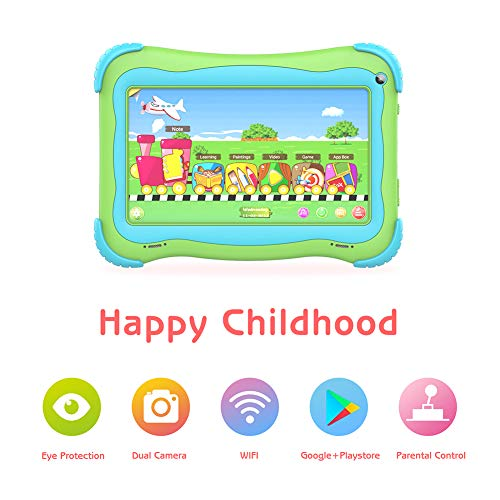 Kids Tablet 7 Android Kids Tablets for Kids Edition Tablet PC Android Quad Core Toddler Tablet with WiFi Dual Camera IPS Safety Eye Protection Screen and Parental Control Mode