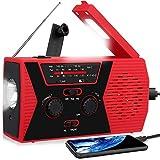 RegeMoudal Emergency Solar Hand Crank Portable Radio, NOAA Weather Radio for Household