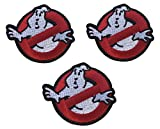 Ghostbusters NO GHOSTS Logo SET OF 3 Embroidered 2 3/4 Wide PATCHES by Main Street 24/7