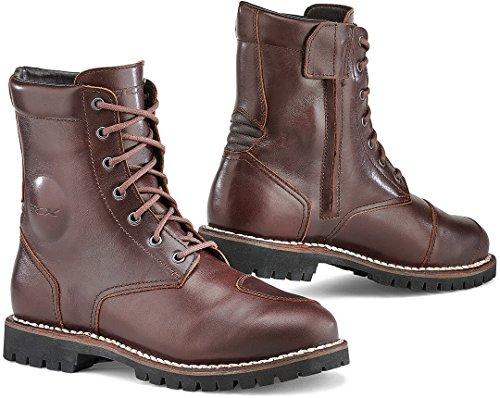 TCX 7295W Hero Mens Street Motorcycle Boots - Vintage Brown Size Eu 43 / Us 9