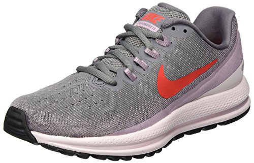 Nike Wmns Air Zoom Vomero 13, Zapatillas de Running para Mujer, Gris (Gunsmoke/Habanero Red-Elemental Rose 004), 40.5 EU