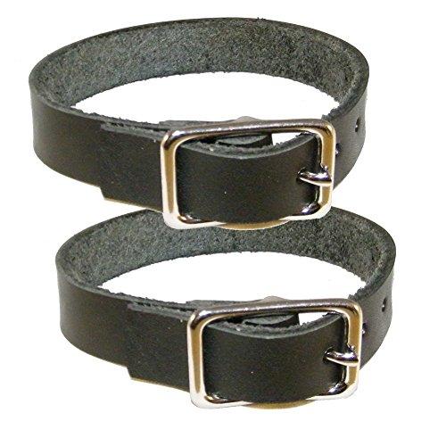 Befestigungsriemen 2er Pack - Lederriemen aus schwarzem Blankleder (70cm)