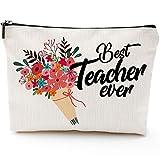 Teacher Makeup Bag,Teacher Cosmetic Bag,Teacher Appreciation Gifts for Women,Best Teacher Gift Teacher Makeup Bag,Teacher Thank You Gifts, Preschool,Elementary,Waterproof Cosmetic Bag