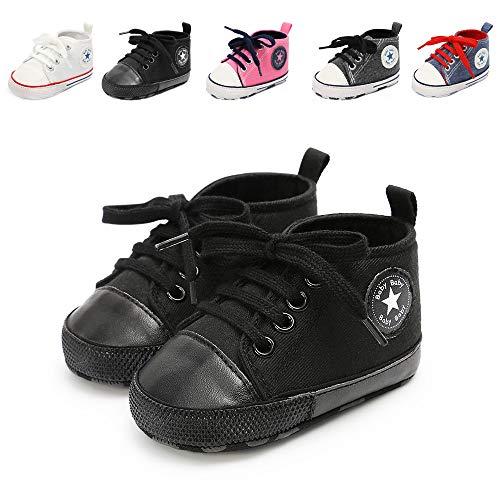 Babycute Baby-Schuhe für Neugeborene, Beige - A2-allblack - Größe: 12-18 Mois