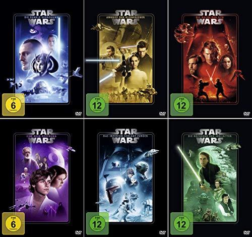 Star Wars 1 - 6 Paket: Dunkle Bedrohung (1) + Angriff der Klonkrieger (2) + Rache der Sith (3) + Eine neue Hoffung (4) + Imperium schlägt zurück (5) + Rückkehr der Jedi-Ritter (6) [6-DVD]