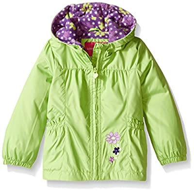LONDON FOG Girls' Little Perfect Fleece Lined Jacket, Green, 4