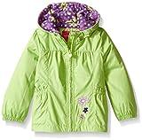 LONDON FOG Girls' Little Perfect Fleece Lined Jacket, Green, 5/6