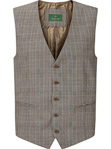 Charles Colby Herren Weste Duke Edward (Stillvolle Anzugweste, Klassische Herrenweste) braun XL - 56