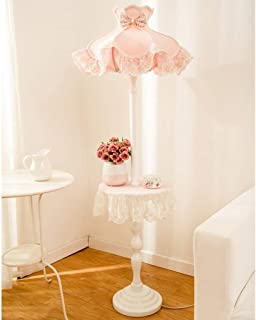 Led Desk Lamp Floor Light Lamp Floor Lamps European Pastoral Lace Fabric Floor Lamps, Racks Floor Lamps, Living Room Bedro...
