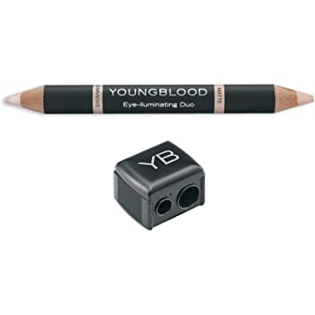 Youngblood Clean Luxury Cosmetics Eye-lluminating Duo Pencil & Pencil Sharpener | Cruelty Free, Paraben Free, Vegan, Gluten Free
