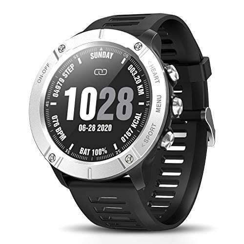CatShin Fitness Tracker SmartWatch,Sports Watch Wasserdicht Aktivitätstracker,Voller Touchscreen Fitness Armband Blutdruck Uhr mit Schrittzähler Pulsuhren Stoppuhr für Herren iOS Android.(Sliver)