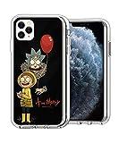 RXDong Claro Funda para iPhone 11 Pro MAX,6.5 Pulgada TPU Apple iPhone 11 Pro MAX,con Morty Rick Artwork Diseño A Prueba de Golpes de Protección Personalizada Teléfono Covers