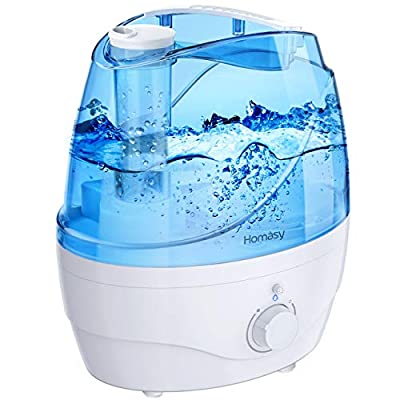 VicTsing 2200ml Cool Mist Humidifiers, Ultrasonic Humidifiers with Large Water Tank, 24 Working Hours, Waterless Auto-Off, 28dB Quiet Air Humidifier for Bedroom, Babyroom, Living Room