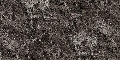 Deko Wandverkleidung in Marmor- und Granitoptik für Küche, Wohnzimmer, Wintergarten und Büroräume (Emperador Dark)