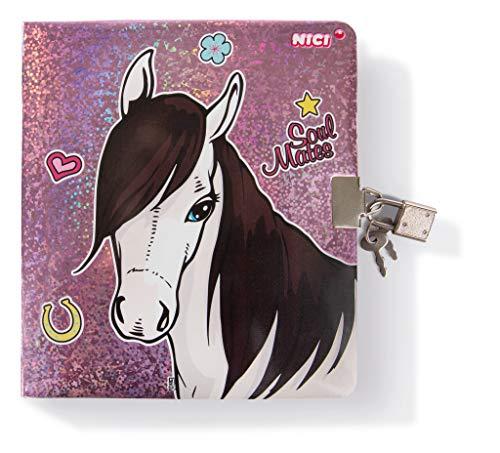 NICI 43233 Tagebuch Pferd Ayeta, 16,5 x 18 cm, rosa