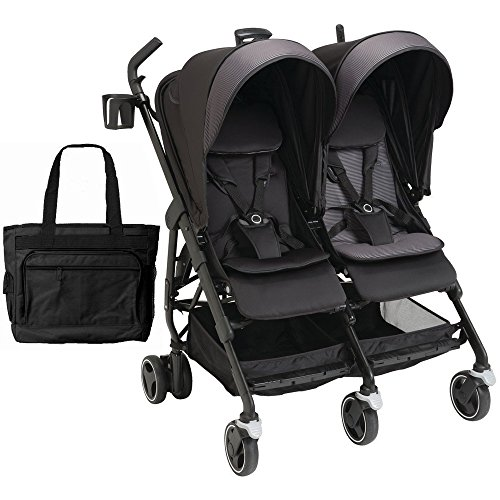 Maxi-Cosi USA Dana for 2 Double Stroller with Diaper Bag - Black