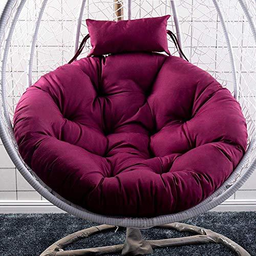 YQGOO Swing Hanging Chair Sitzkissen für Patio Garden, Hanging Egg Hammock Stuhlpolster, wasserdichte Thicken Nest Hanging Chair Rückenlehne für Patio Garden (Ohne Stuhl)