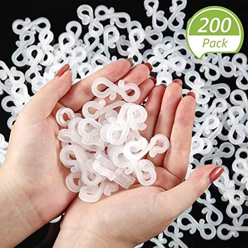 200 Clips de Luz de San Valentín Ganchos Clips de Plástico
