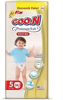 Goon Premium Soft Külot Bez, 5 Beden, Ekonomik Paket, 34 Adet, Beyaz