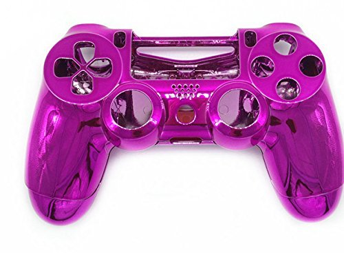 Canamite® Case Hülle Gehäuse Chrome Modding Cover Shell für Playstation PS4 DualShock 4 Controller (Rose)