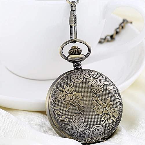 Reloj de Bolsillo, Reloj de Bolsillo clásico, Mesa Shiying Huai para Regalo de cumpleaños para Hombres y Mujeres, Reloj de Bolsillo Flip Complex Que.