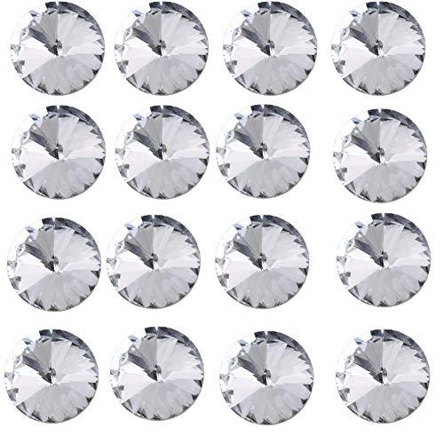 Carkio Crystal Satelliet Diamant Ronde Knop Bekleding Hoofdbord Stoel Sofa Hoofdbord 25mm