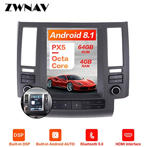 Review ZWNAV for Infiniti FX35 FX45 2003-2009,Android 9.0 Tesla Car Stereo HD Touch Screen,Car GPS N...