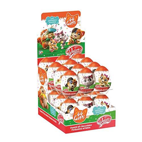 ovetto di cioccolato al latte di 44 Gatti con sorpresa 20 gr 6 pezzi Zaini senza glutine