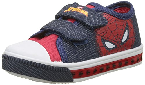 Spiderman Boys Kids Low Sneakers, Zapatillas para Niños, (H.Red/M.Blue/Navy), 33 EU