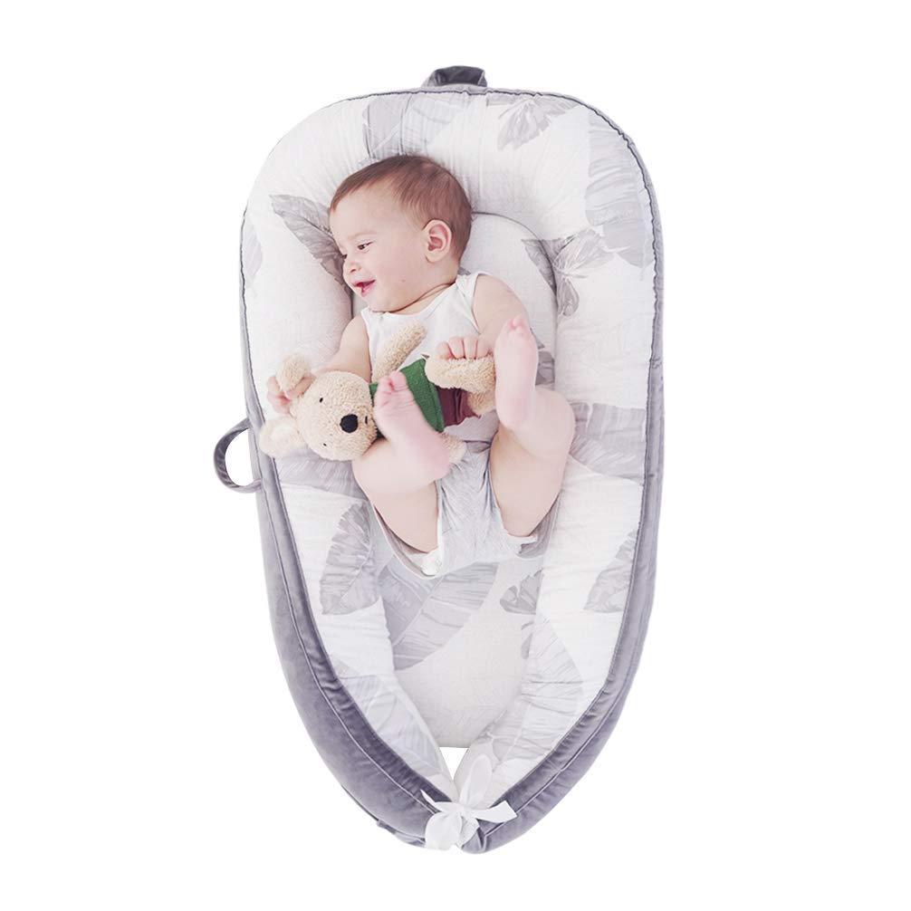 LOAOL Baby Lounger Newborn Co Porta Bassinet Cheap SALE Start Sleeping Reversible Elegant