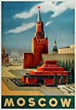 Moskau Reise-Poster Sowjetunion Russisches Poster Russland