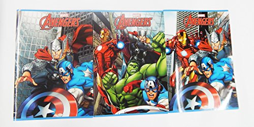 Set di 10 quaderni'Avengers' righe di 1° - 2° elementare.