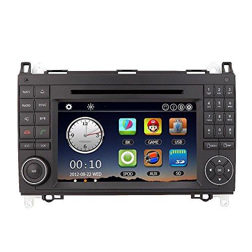 KKmoon 7 Pollici Autoradio Doppio 2 DIN Dvd Lettore Auto Radio PC Stereo GPS Navigazione In Dash Per Mercedes-Benz A B Class Viano Vito Sprinter + Mappa Gratuita+ Scheda Gratuita