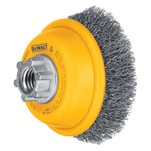 DEWALT Wire Cup Brush, Crimped, 3-Inch (DW4920)