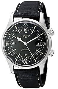 Longines Men's L3.674.4.50.0 Sports Legends Black Dial Watch image