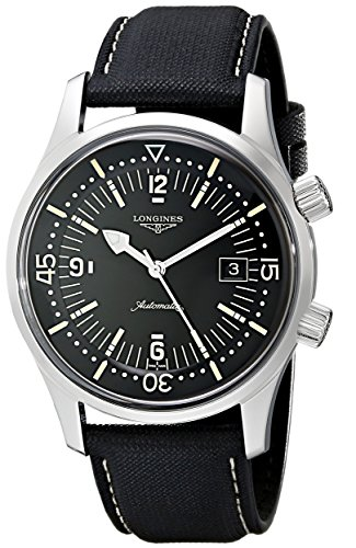 Longines Men's L3.674.4.50.0 Sports Legends Black Dial Watch