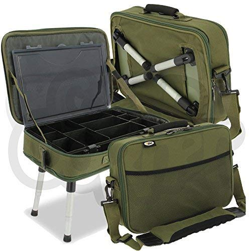 NGT Carp Fishing Deluxe Anglers Box Case Tackle Bait Storage System with Legs