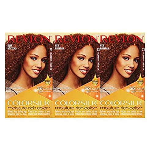 Revlon Colorsilk Moisture Rich Hair Color, Golden Brown No.73, 3 Count