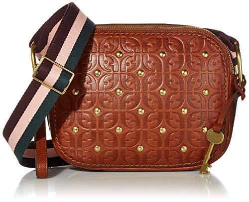 Fossil Women's Elle Leather Crossbody Handbag, Multicolor, One Size